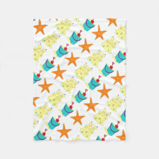 Starfish Sand Castle Bucket Shovel Beach Blanket