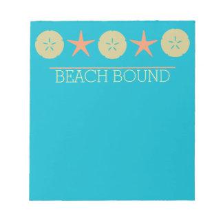 Starfish Sand Dollar Beach yellow orange turquoise Notepad