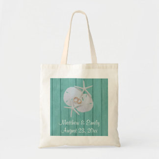 Starfish Sand Dollar Wedding Favor Tote Bags