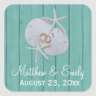 Starfish Sand Dollar Wedding Favour Stickers