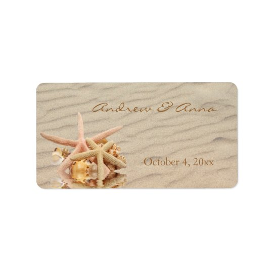 Starfish Sand Labels