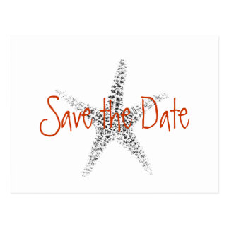 Starfish, Save the Date Postcard