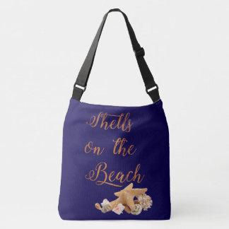 Starfish Seashells on the Beach Tropical Vacation Crossbody Bag