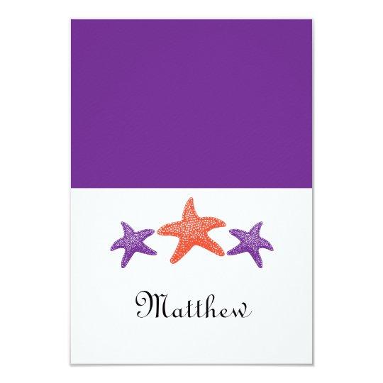 Starfish Seating Card