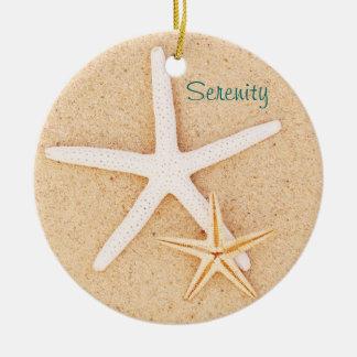 Starfish Serenity Prayer Ornament