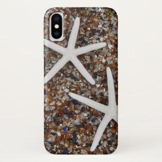 Starfish skeletons on Glass Beach iPhone X Case