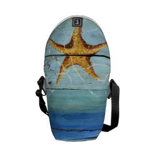 Starfish Sky Tropical Designer Mini Messenger Bag