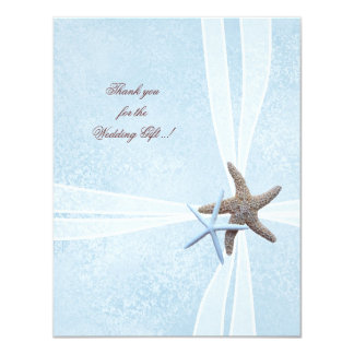 Starfish Small Wedding Thank You Cards