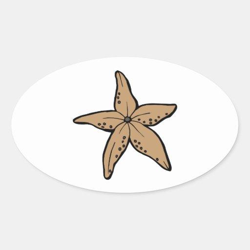Starfish Oval Sticker