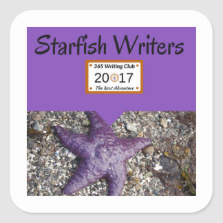 Starfish stickers! square sticker