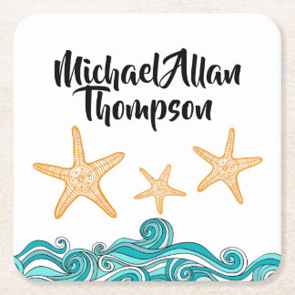 Starfish Story Adoption Party Supplies Square Paper Coaster