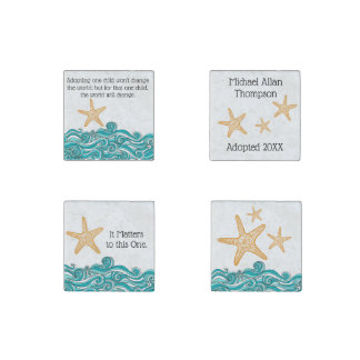 Starfish Story Adoption Personalized Gift Stone Magnets