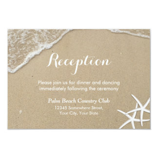 Starfish Summer Beach Wedding Reception Card