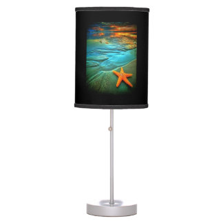 starfish sunset beach table lamp