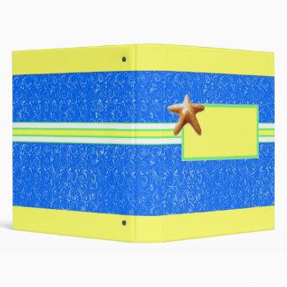 Starfish Swirl 3 Ring Binder