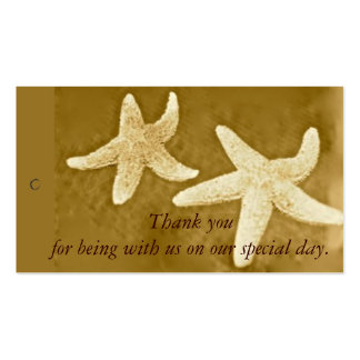 Starfish Thank you Gift Tag Business Card Templates