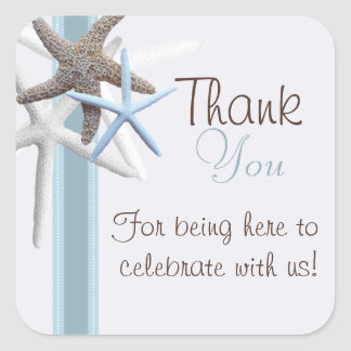 Starfish Thank You Wedding Sticker
