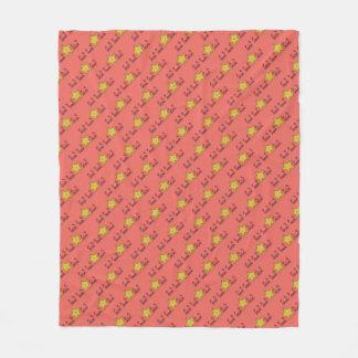 Starfish & The Crabs Beach Critters Pattern Fleece Blanket