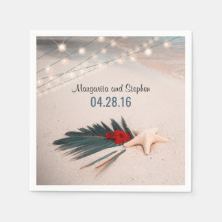 Starfish Tropical Destination Wedding Disposable Napkins