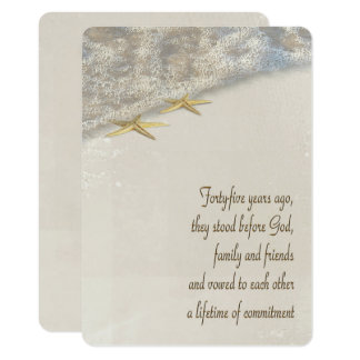 Starfish Vow Renewal for 45th Anniversary Card