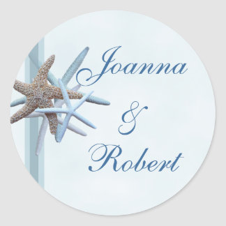 Starfish Wedding Couple Beach Theme Sticker