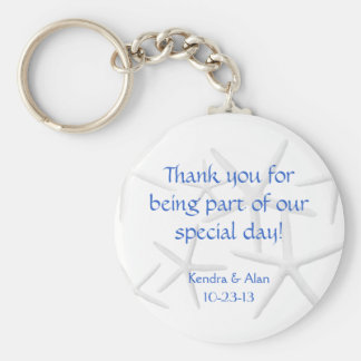Starfish Wedding Personalized Favors Keychain