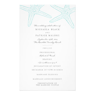 Starfish Wedding Programs