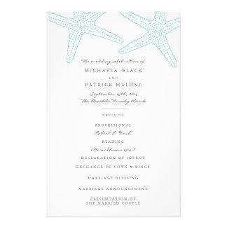 Starfish Wedding Programs Full Colour Flyer