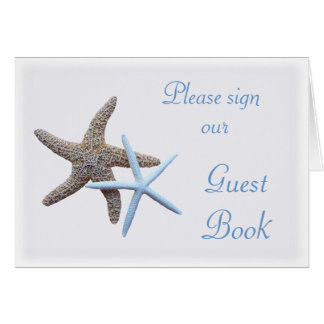 Starfish Wedding Sign Our Guest Book Table Card