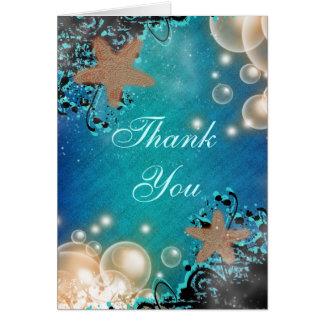 Starfish wedding THANK YOU #2 Card