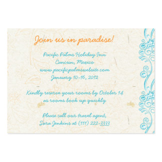 Starfish Wedding Travel Information Card Business Card