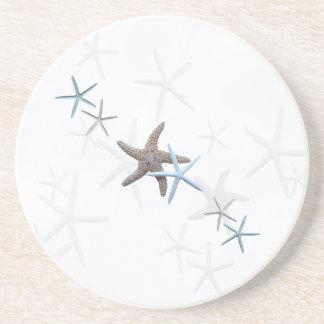 Starfish White Drink Coaster