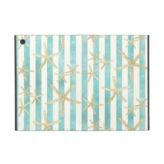 Starfish, White Finger Ocean Shells Beach Striped Cover For iPad Mini