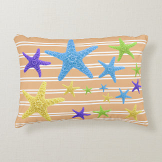 Starfish with Changeable Background Colour Accent Pillow