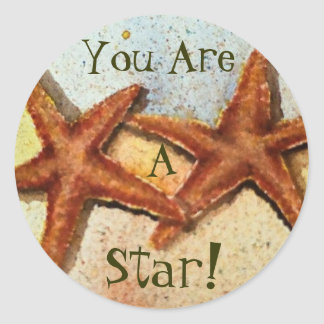 starfish, You Are, A, Star! Classic Round Sticker