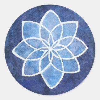 Starflower Classic Round Sticker