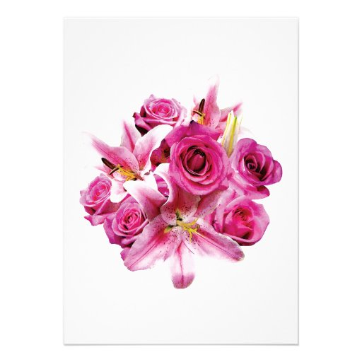 Stargazer Lilies and Roses Invites
