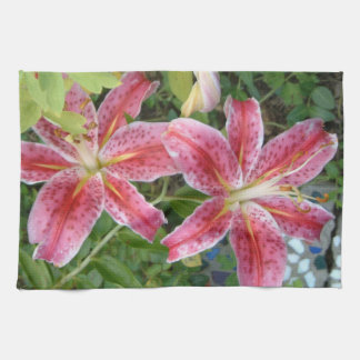 Stargazer Lilies Kitchen Towel