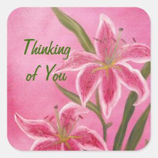 Stargazer Lilies Stickers