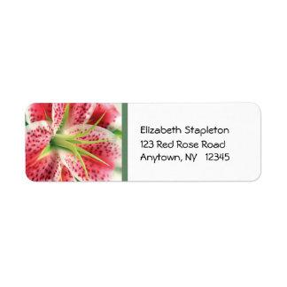 Stargazer Lily Address Label