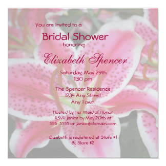 Stargazer Lily Bridal Shower Invitation