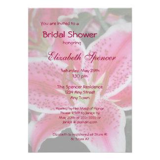 Stargazer Lily Bridal Shower Invitation