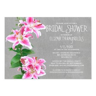 Stargazer Lily Bridal Shower Invitations