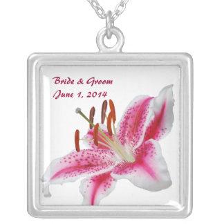 Stargazer Lily Bride & Groom Necklace