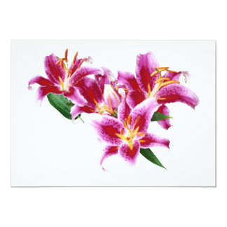 Stargazer Lily Heart Personalized Invitations