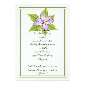 "Stargazer lily lilac purple wedding bridal shower 5"" x 7"" invitation card"