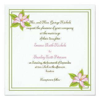 Stargazer lily pink wedding custom invitation