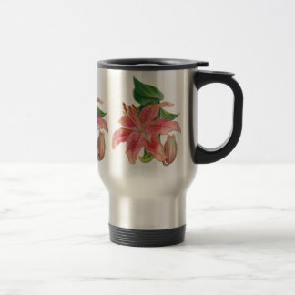 Stargazer Lily Travel Mug