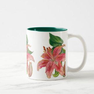 Stargazer Lily Two-Tone Coffee Mug