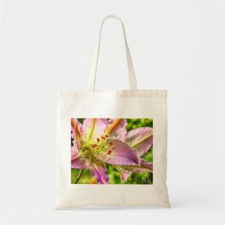 Stargazer Lily/ Watercolor Look/ Floral Art Tote Bag